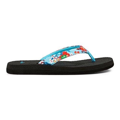 Sanuk Yoga Meta Womens Sandals Aqua Waikiki Floral 0TsPd