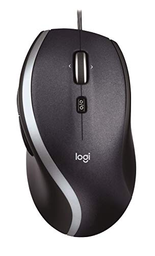 Logitech M500 Corded Mouse - Wired USB Mouse for Computers and Laptops, with Hyper-Fast Scrolling, Dark Gray