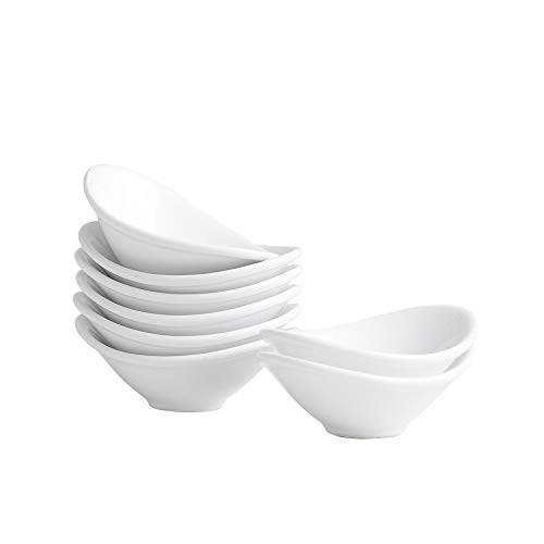 Dipping Sauce Dishes,Soy Sauce Dipping Bowls,Dipping Bowls, Porcelain Watercolor Palette - 8 Packs, White, 1.2 oz
