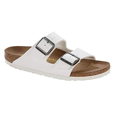 Birkenstock Arizona Unisex White Birko-Flor Sandal 38 / Unisex US Size 7-7.5