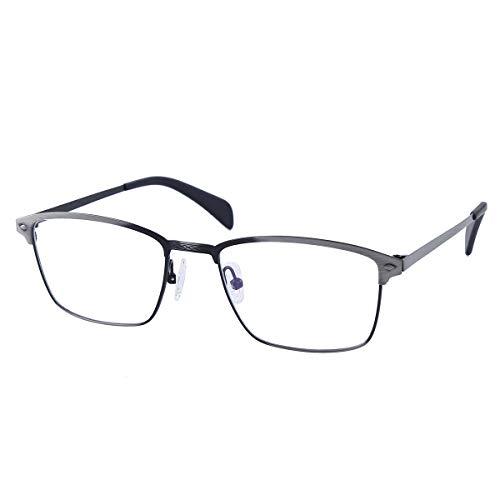 Retro Metal Photochromic Gray Reading Glasses +4.00 Mens Womens Silver Frame Readers Glasses