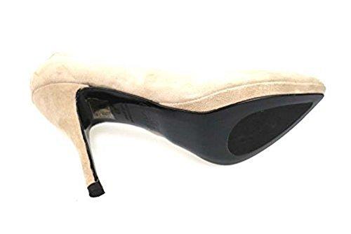 Shoes beige G 37 Woman suede AN61 BRACCIALINI courts RcPc40Wr