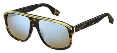 Sunglasses Marc Jacobs 388 /S 0086 Dark Havana / 3U khaki mirror blue lens