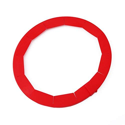- HS Silicone Adjustable Pie Crust Shield Pie Protectors (Red) 1pc