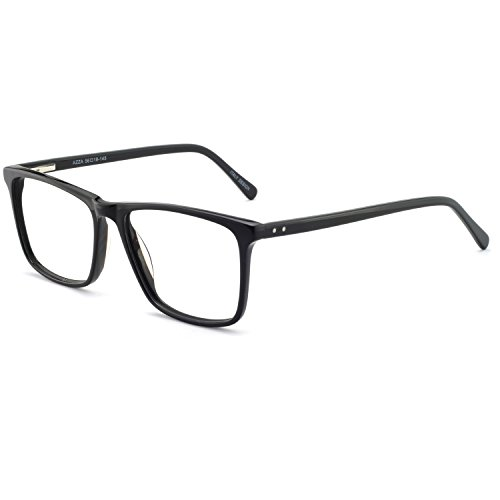 Eyeglasses Acetate - OCCI CHIARI Eyewear Frames Fashion Optical Acetate Eyeglasses With Clear Lenses (Black) For Mens