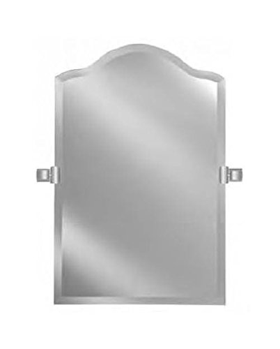 Scallop Top Frameless Mirror (24 in. W x 35 in. H) ()