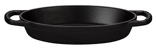 Le Creuset LS2088-36ML Signature Oval Baker Matte Licorice, 3 quart, Black