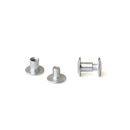 Binding Post Screw (1/4 in. Aluminum Chicago Screws/Screw Posts (Qty 100 sets))