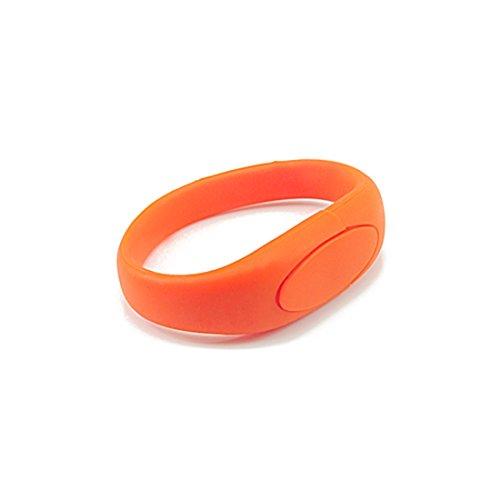 FEBNISCTE 64GB Bracelet USB 2.0 Flash Drive Thumb Drive - Orange