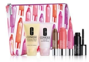 New! 2016 Clinique 7-PC Skincare Makeup Gift Set - Blod and