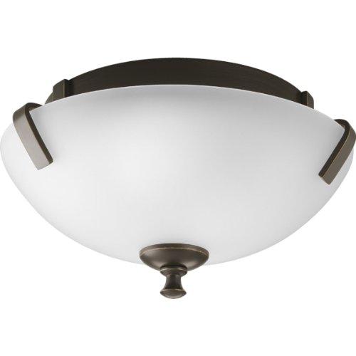 Progress Lighting P3290-20 2-Light Close-To-Ceiling Fixture, Antique Bronze ()