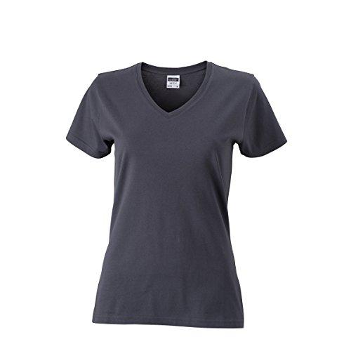 JAMES & NICHOLSON - Camiseta - Básico - Manga corta - para mujer gris grafito