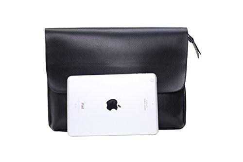 sulandy @ Hombres de la piel y de piel sintética bolso bandolera maletín bolsa café nuevo negro
