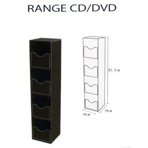 meuble rangement blu ray / jeux : ps3/ps4 ; wii ; xbox / cd / dvd ... - Meuble Range Cd Design