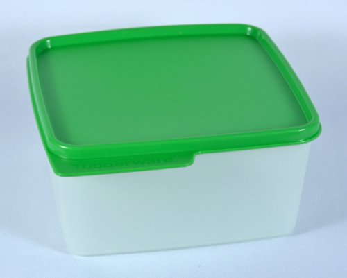 Tupperware 1.2 Quarts Keep Tabs Square Canister in Green