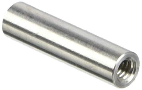 "Round Standoff, Stainless Steel, Female, #4-40 Screw Size, 0.187"" OD, 0.75"" Length, (Pack of 10)"
