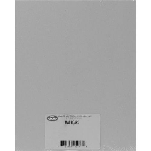 Savage Gray/White Mount and Mat Board 11x14 in - 100 Boards ()