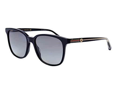 Gucci GG 0376S 001 Black Plastic Square Sunglasses Grey Gradient Lens 001 Black Plastic Sunglasses