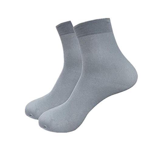 (Bravetoshop Ankle Socks,Bamboo Fiber Ultra-thin Elastic Silky Short Silk Stockings Men Women Socks (gray,Free Size))