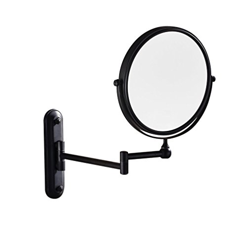 GURUN-Wall-Mounted-Mirror-Double-Sided-With-10X-MagnificationOil-Rubbed-BronzeNo-lightM1207O8in10x-Magnification