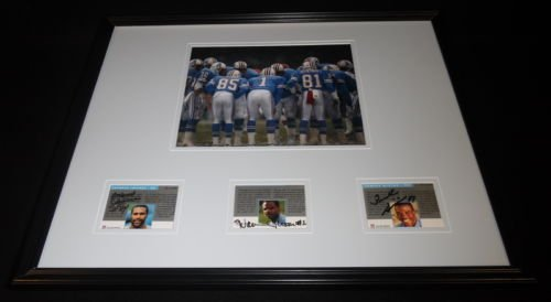 - Warren Moon H Jeffires E Givins Signed Framed 16x20 Photo Display PRO LINE Oiler