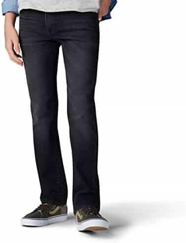 Internal Adjustable Waist Supernova Dark Wash, 14 LEE Boys Slim Fit Performance Stretch Jeans