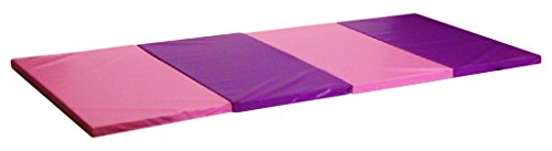 Seismic Sports - SSM-482PP - Pink and Purple Gymnastics Mat for Tumbling Yoga Exercise Karate Cheer, 4 x 8 x 2