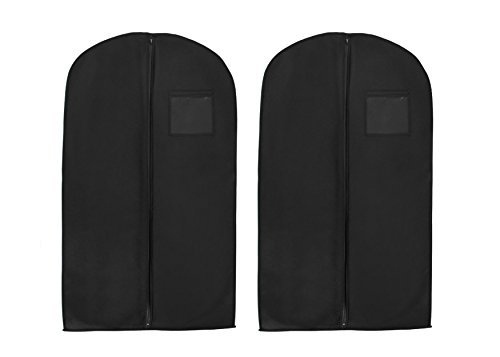"UPC 799475251184, Bags for Less Breathable Suit or Dress Garment Bag 54"" Long Set of 2, Black"