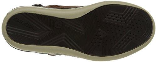 Geox JR GARCIA BOY B - zapatillas deportivas altas de cuero niños marrón - Braun (C6003BROWNCOTTO)
