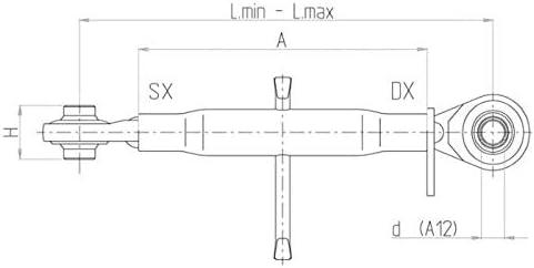 AMA Barre de pouss/ée Basic Cat I L 256X350 mm