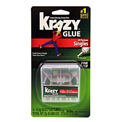 0.5 Ounce Single (Elmer's Products KG582 Instant Crazy Glue 4-Single Use Tubes, 0.017-Ounce)