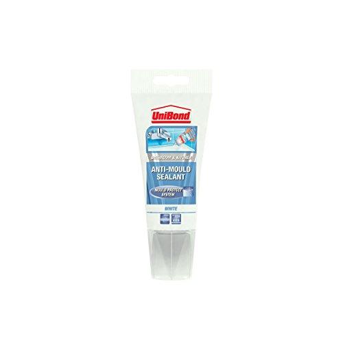 UniBond Anti-Mould Kitchen/Bathroom Sealant Tube - 150 ml, White