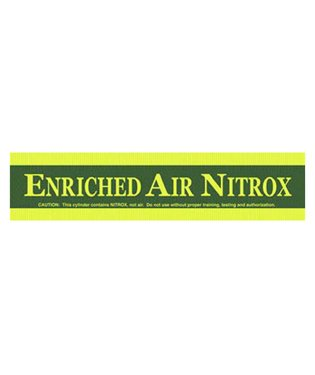 Enriched Air Tank Band Sticker for Easy Identification