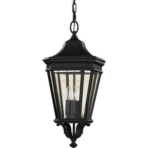 Feiss Cotswold Lane Black 3-Light Outdoor Pendant Light OL5411BK