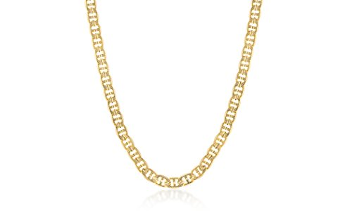 - STRUCTURE BY NES 24K Yellow Gold Plated Brass 24 Inch 8mm Mariner Chain Necklace for Men