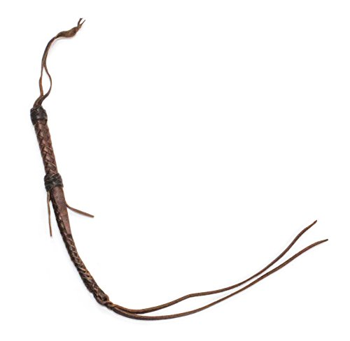 el Racing Leather Quirt Braided Quirt Whip ()