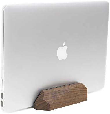 OakyWood ノートパソコン用ドック 木製縦型MacBookスタンド, ブラウン