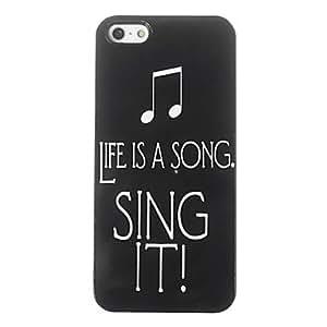 ZCL-La vida es un caso duro del diseño de canción de aluminio para iPhone 5/5S
