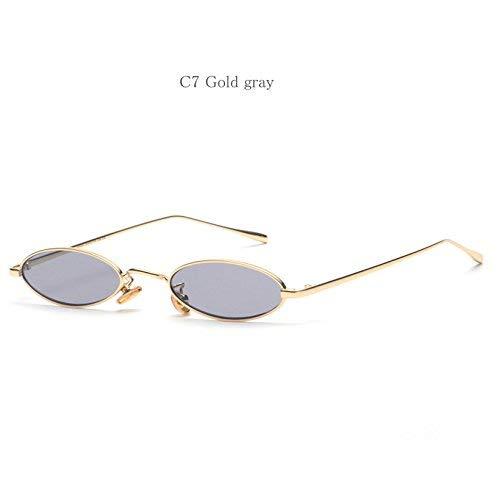 para mujer hombres dorado de pequeñas de Gafas para gris sol gafas diseño y rojas gafas de sol ovaladas color retro sol redondas y twfwqIA