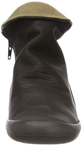 black Noir Combi Femme Smooth Bottines Farah Softinos 552 smoke xawzXqYz