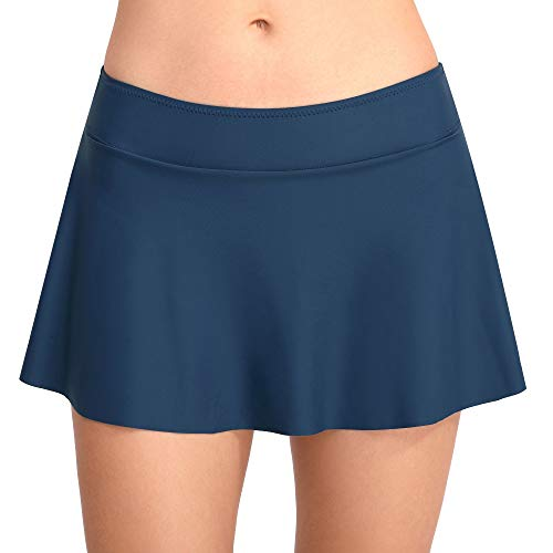 (Joyaria Women's Flounce Swim Skirt Tankini Bottoms Athletic Skort with Built in)
