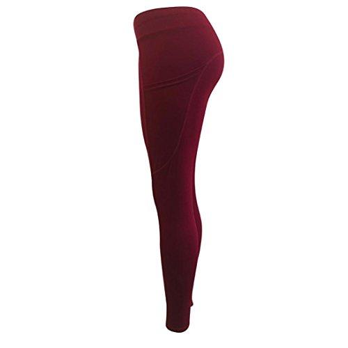0324802726 TOPUNDER Workout Yoga Pants for Women Yoga Leggings Capri Solid Sports Gym  Trousers