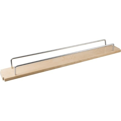 6'' Single shelf for the BPFO6 series base cabinet filler pullout that includes (1) shelf (4) clips and (2) metal rails