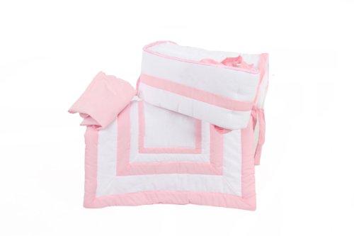 Baby Doll Bedding Modern Hotel Style Cradle Bedding Set, Pink