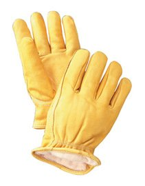 Radnor Small Yellow Deerskin Thinsulate Lined Cold Weather Gloves (9 Pairs)