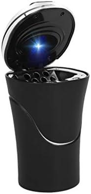 黒い車の灰皿、ほとんどの車のカップホルダー蓋ステンレス製の多機能車の灰皿
