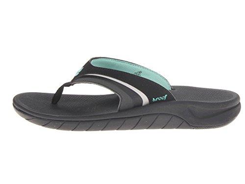 Reef Womens Slap 3 Sandal Black / Aqua