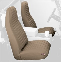 Bestop 29227 04 Tan Front High Back Seat Cover Set For 1980 1983 CJ5