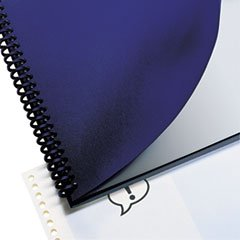* Leather Look Binding System Covers, 11-1/4 x 8-3/4, Navy, 200 Sets/Box