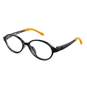 Cyxus Blue Light Filter TR-90 Glasses for Kids Anti Radiation Eyewear Anti Eye Fatigue Blocking UV Clear Lens Black Frame
